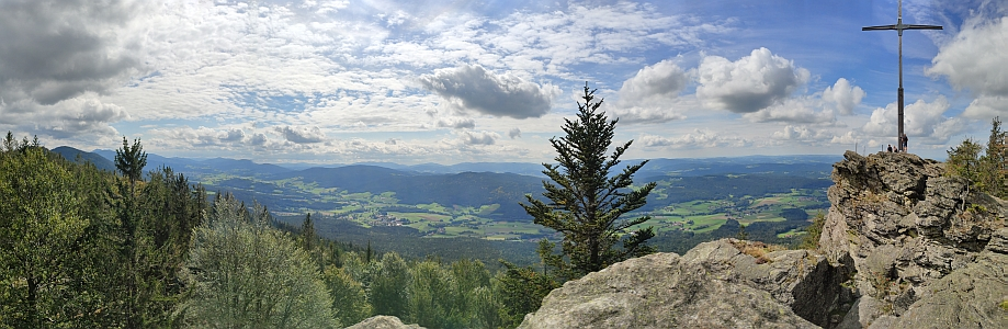 Pohled z vrcholu Kaitersbergu (1133 m n.m.)