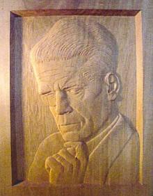 Reliéfní portrét ve dřevě od Joachima von Zülow