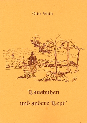Obálka druhého už vydání (1985) jeho z velké části nářečních povídek a veršů a autorský medailon v jejím závěru