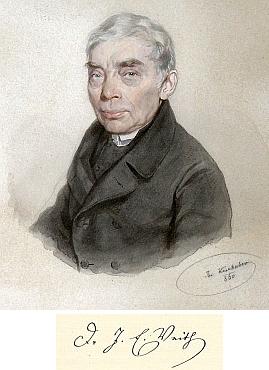 Na akvarelu Josefa Kriehubera (1800-1876) z roku 1860