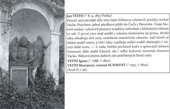 Hrobka pražské rodiny Veithů na Olšanských hřbitovech, dílo sochaře Václava Prachnera