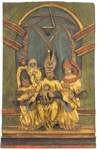 """Reliéf Obřezání Páně na křídlovém oltáři z roku 1519, uchovávaném ve sbírkách vyšebrodského kláštera, výmluvně svědčí o Ježíšově """"židovském původu"""""""