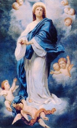 Barevná reprodukce jedné z variant mariánského obrazu ze snímku jeho obytného pokoje