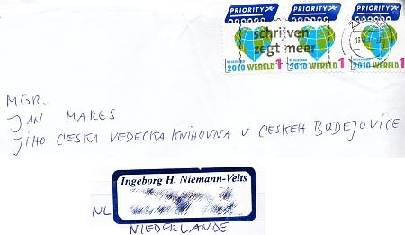 V červnu 2011 mi napsala dcera paní Ingeborg z Nizozemí a poslala nám matčinu knihu