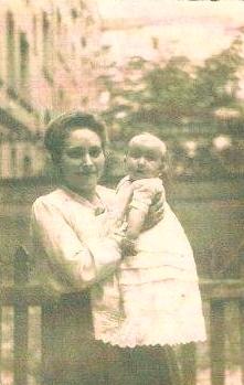 Maminka Inge s dcerkou Inge v Berlíně