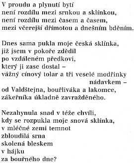 Dva překlady jeho básní s tématikou Prahy a Čech