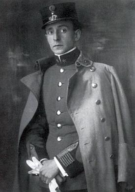 Jako poručík druhého c.k. uherského pěšího pluku