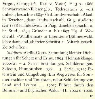 Německý literární lexikon u jeho jména konstatuje neznámé datum i místo úmrtí
