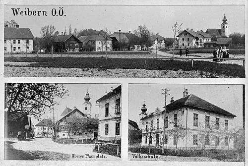 Rodný Weibern na staré pohlednici