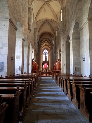 Interiér klášterního kostela