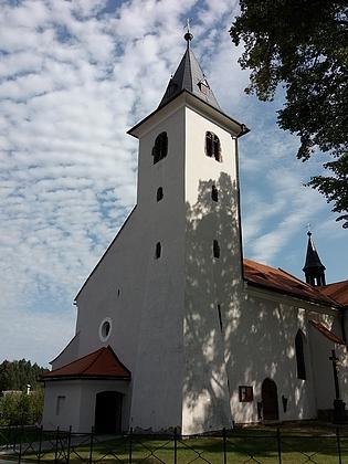 Kostel Umučení sv. Jana Křtitele v Záblatí (viz i Herbert Kieweg)