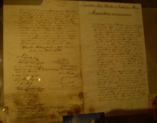 Listina uložená původně ve věži vyšebrodského farního kostela, jejíž překlad uvádíme v ukázce, je dnes součástí sbírky Wernera Lehnera; zde je vystavena v rámci česko-rakouské Zemské výstavy 2013 v Bad Leonfelden