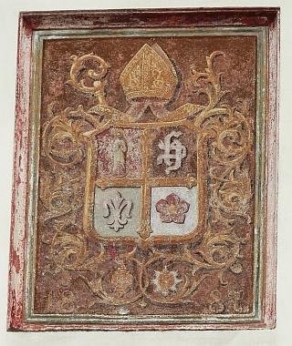 Jeho znak na vyšebrodské kapli sv. Josefa