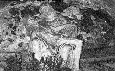 Marie Utěšitelka na plastice Piety z Dobré Vody u Nových Hradů