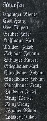 Jeho jméno najdeme na pomníku padlých v první světové válce v Nové Peci, jen pár metrů od školy, na které učil