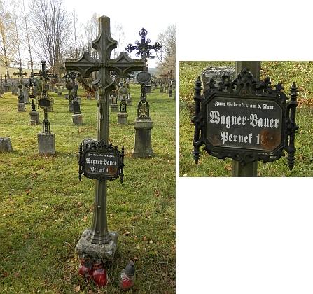 Hrob rodiny Wagner-Bauer z Perneku čp. 18 na želnavském hřbitově