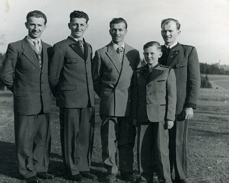 Rudolf Wagner s bratry: odleva Rudolf, Walter, Johann, Wilfried, Ernst