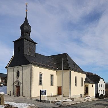 Kostel v rodné obci Neuengrün v Horních Frankách
