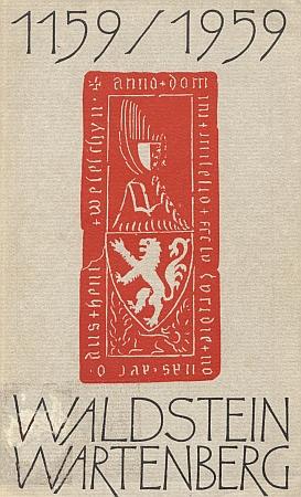Obálka (1959) pamětní publikace k dějinám jeho rodu má při titulu náhrobek Jindřicha z Michalovic (†1355) ve Zlaté Koruně, na kterém jsou oba erbovní štíty Markvarticů, přejaté později Valdštejny (lev) i Wartenbergy (černozlatý půlený štít) - na okraji najdeme i místní jméno Velešín
