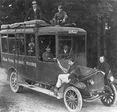 Už v roce 1913, rok před první světovou válkou, fungovala autobusová linka Pasov - Freyung - Vimperk