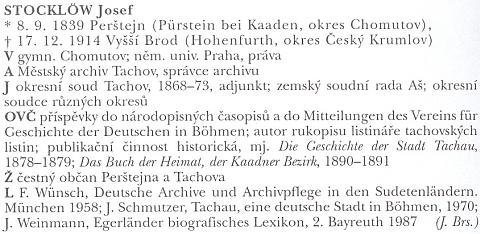 Ani heslo v lexikonu archivářů českých zemí nepřipomíná jeho pseudonym