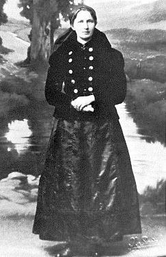 Manželka Antona Wallnera v šumavském kroji