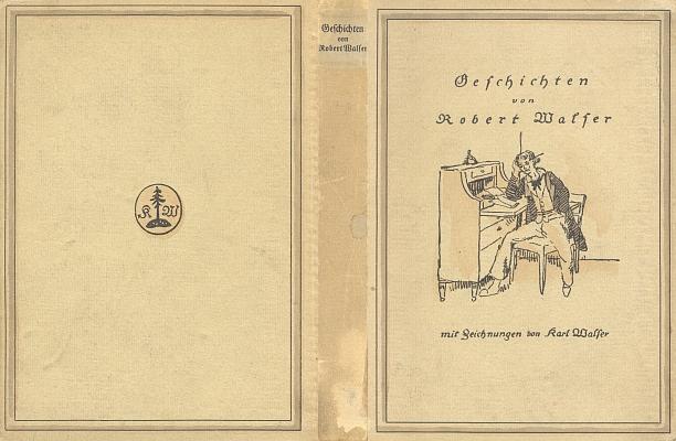 Papírová vazba (1914) knižního vydání jeho povídek s ilustracemi bratrovými