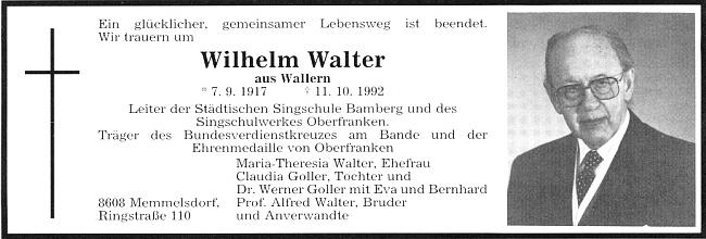 """Parte jeho bratra Wilhelma Waltera """"mladšího"""""""