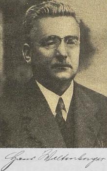 Na novinovém snímku kjubilejnímu článku Wilibalda Böhma o jeho šedesátinách