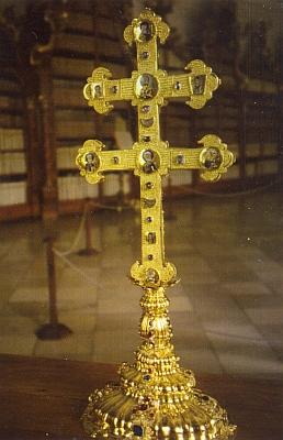 Závišův kříž z kláštera Vyšší Brod, přední a zadní strana (viz i Tecelin Jaksch a Canisius Leopold Noschitzka)