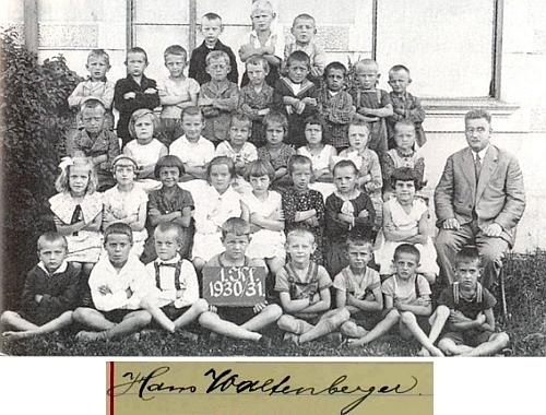 Se žáky kaplické školy ročníku narození 1924