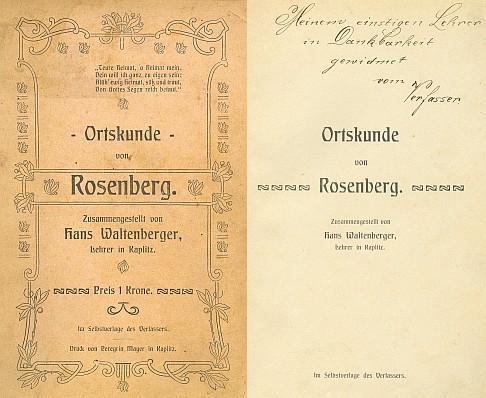 Obálka (1906) a věnování autorovo na titulním listu