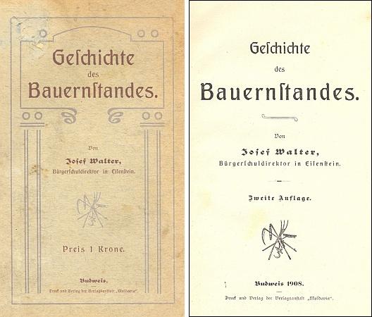 Vazba a titulní list jeho knihy (1908)