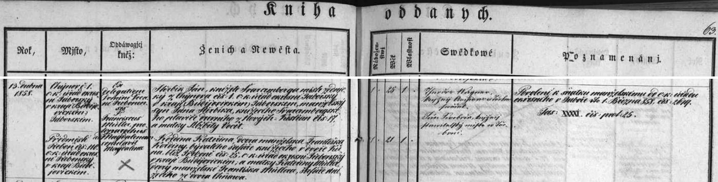 Z krasopisného českého záznamu třeboňské oddací matriky o zdejší svatbě rodičů Walterovy manželky Aloisie - jedním ze svědků jim tenkrát byl archivář Theodor Wagner - vysvítá, že snad všichni předci Aloisiini byli ve schwarzenberských knížecích službách