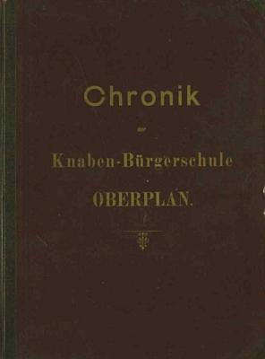 Jeho podpis na stránkách hornoplánské školní kroniky