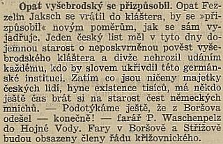 Takto o něm a Tecelinu Jakschovi psal v říjnu 1938 list Republikán