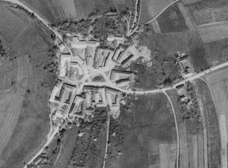 Hořičky na leteckých snímcích z roku 1947 a 2008