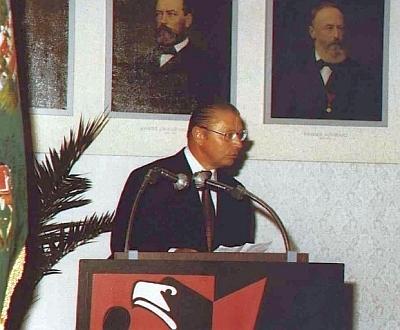 Při projevu na setkání ve Freistadtu v roce 1982