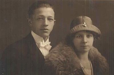 Svatební foto jeho rodičů