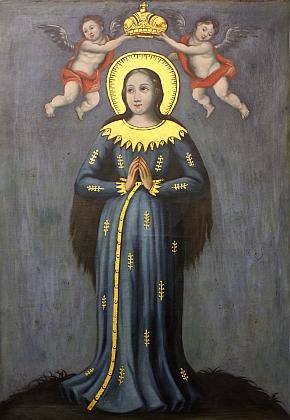 Na obraze z 2. poloviny 18. století
