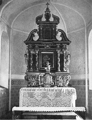 Oltář z Turmbergu v roce 1981...