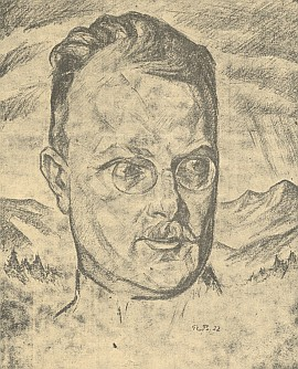 Na kresbě Richarda Birnstengela z roku 1922