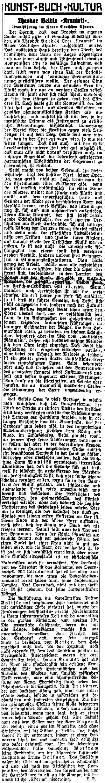 Recenze, jejíž autorem je Ernst Rychnovsky, na Veidlovu a Watzlikovu operu Kranwit, zveřejněná při její premiéře