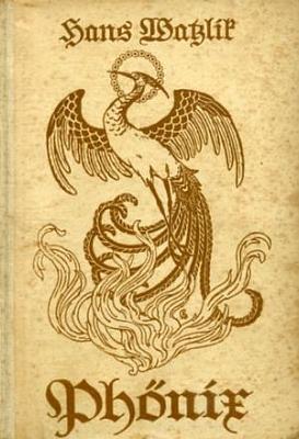 Obálka (1923) jednoho z vydání jeho románu, z něhož zhudebnil Hans Wagner-Schönkirch báseň Trunkene Himmelfahrt