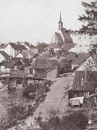 Rodné Dolní Dvořiště na starých snímcích