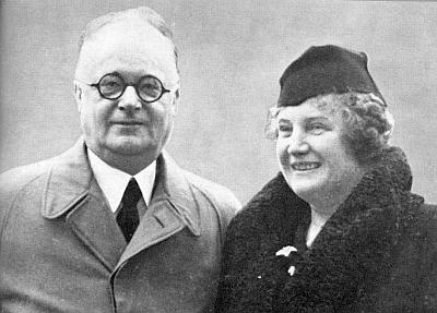 Lina Watzliková se svým manželem
