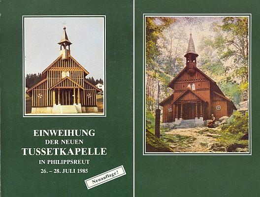 Obálka (1985) knihy s podobou obou stožeckých kaplí (Fremdenverkehrsamt, Philippsreut)