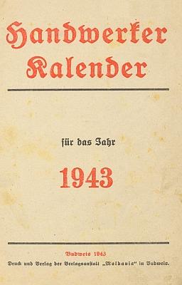 """O německých příslovích napsal do budějovického kalendáře nakladatelství """"Moldavia"""" na rok 1943"""