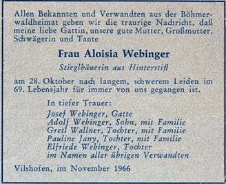 Parte manželky jeho bratra Josefa...