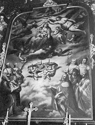 Hlavní oltář farního kostela, vysvěcený v říjnu 1664 vyšebrodským opatem Wendschuhem...